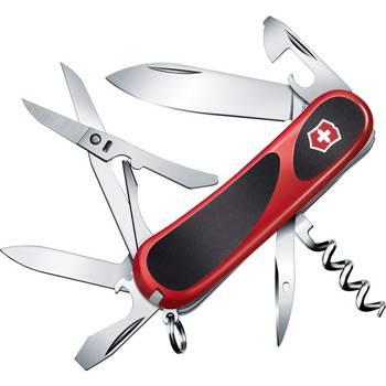 Нож Victorinox 2.3903.С EvoGrip 14 (85мм 14 функций, красный с чёрными вставками)