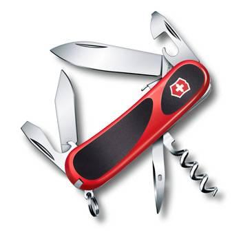 Нож Victorinox 2.3603.SC EvoGrip S101 (85мм 13 функций, красный с чёрными вставками, spring lock)