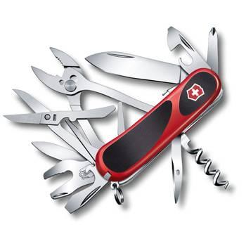 Нож Victorinox 2.5223.SC EvoGrip S557 (85мм 21 функция, красный с чёрными вставками, spring lock)
