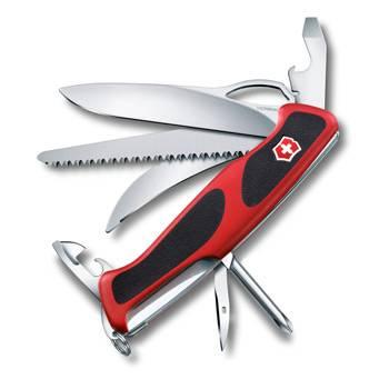 Нож Victorinox RangerGrip 58 Hunter (арт. 0.9683.MC, 130мм 13 функций красно-чёрный)