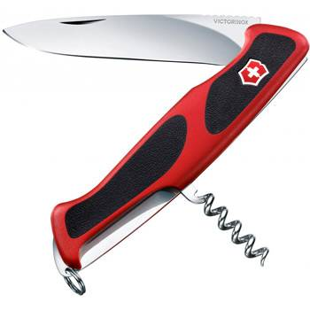 Нож Victorinox RangerGrip 52 (арт. 0.9523.C, 130мм 5 функций красно-чёрный)