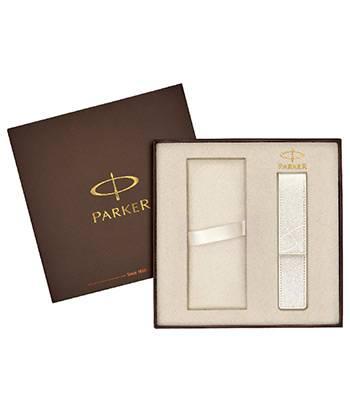 яКоробка Parker подарочная 1910452 (с местом для ручки и белым чехлом для ручки в комплекте)