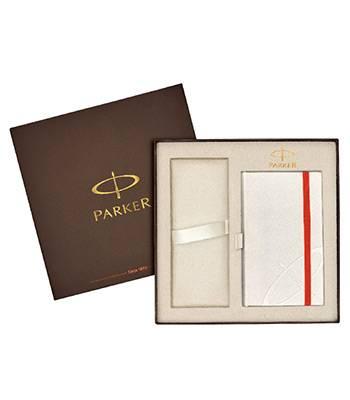 яКоробка Parker подарочная 1910533 (с местом для ручки и белым блокнотом в комплекте)