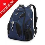 """Рюкзак Wenger 98673215 синий/черный, с отдел для ноутбука 15"""" 34x17x47 см, 26 л"""