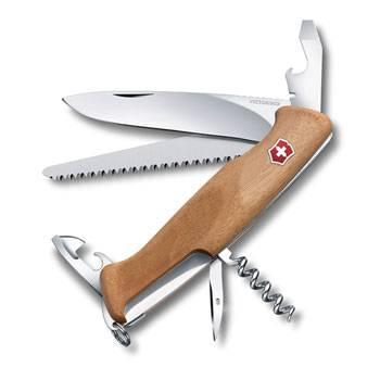 Нож Victorinox RangerWood 55 (арт. 0.9561.63, 130мм 10 функций, рукоять ореховое дерево)