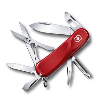 Нож Victorinox 2.4903.E Evolution 16 (85мм, 14 функций, красный)