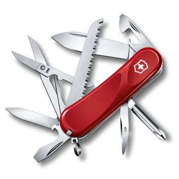 Нож Victorinox 2.4913.E Evolution 18 (85мм, 15 функций, красный)