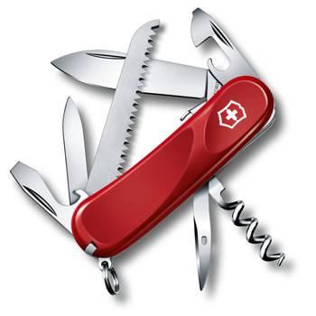 Нож Victorinox 2.3813.SE Evolution S13 (85мм, 14 функций, с фиксатором лезвия, красный)
