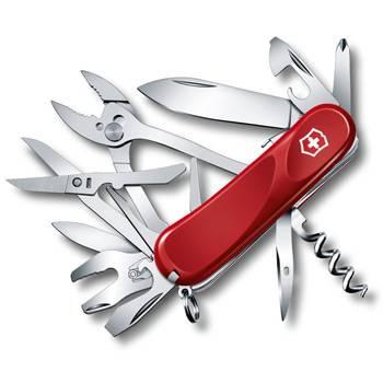 Нож Victorinox 2.5223.SE Evolution S557 (85мм, 21 функция, с фиксатором лезвия, красный)