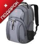 """Рюкзак Wenger 3253424408 серый/серебристый с отделением для ноутбука 15"""" 34x16x48 см, 26 л"""