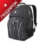 """Рюкзак Wenger 6939204408  черный/белый с отделением для ноутбука 15"""" 34x18x47 см, 29 л"""