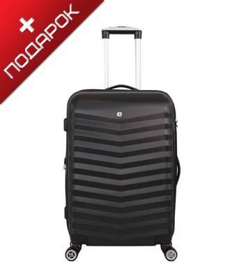 Чемодан Wenger SW32300267 FRIBOURG, черный, АБС-пластик, 38x28x60 см, 64 л