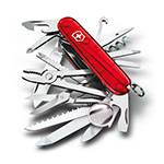 Нож Victorinox 1.6795.T SwissСhamp, 91мм, полупрозрачный красный