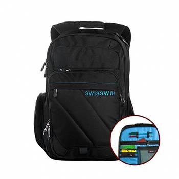 Рюкзак Swisswin SWE01004 с сумкой синий