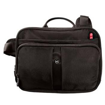 Сумка Victorinox 31173901 Travel Companion с системой защиты RFID чёрная, нейлон, 27x8x21 см, 4 л