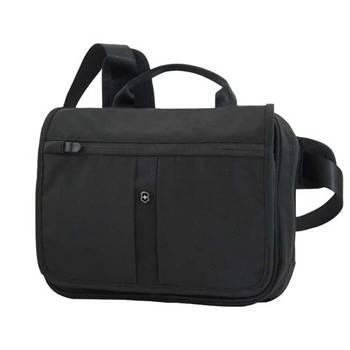 Сумка Victorinox 31174401 Adventure Traveler Deluxe чёрная, нейлон, 28x8x23 см, 5 л
