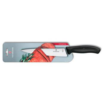 Разделочный нож Victorinox 6.8003.19B SwissClassic (19см, чёрный, в карт. блистере)