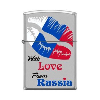 Зажигалка Zippo 205 With Love From Russia