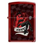 "Зажигалка""ZIPPO"" 21063 Devil Girl Candy Apple Red"