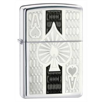 Зажигалка Zippo 24196 Ace High Polish Chrome