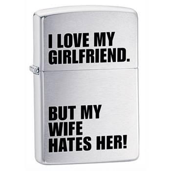 Зажигалка Zippo 24522 Iove My Girlfriend