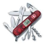 Нож Victorinox 1.3705.AVТ Traveller офицерский, 91мм, прозрачный красный