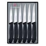 Набор ножей для стейков Victorinox 6.7233.6G (11 см, серрейтор, чёрная рукоять)