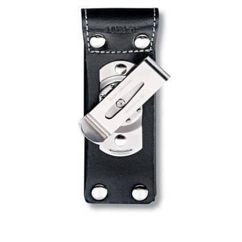 Чехол на ремень Victorinox (для ножа 111мм) 4.0524.31 (толщиной до 6 уровн, кожан, чёрн, с клипом)