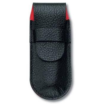 Чехол Victorinox (для ножа 91мм) 4.0736 (толщиной до 2 уровней, кожаный, чёрный)