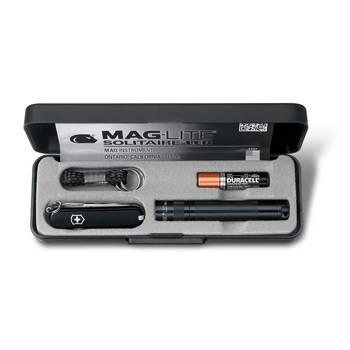 Набор Victorinox 4.4014 (нож-брелок 0.6223.3, светодиодный фонарь Maglite Solitaire, 8 см, чёрный)