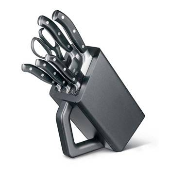 Набор кухонных кованных ножей Victorinox 7.7243.6 (6 предметов, в антрацитовой подставке из бука)