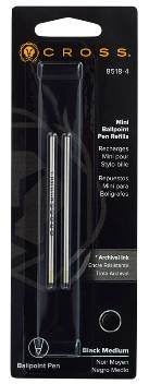 Стержень шариковый Cross для ручки Tech3+ Tech4 8518-4 черный средний (2шт)
