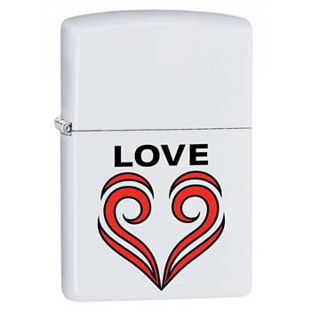 Зажигалка Zippo 29193 Love Theme White Matte