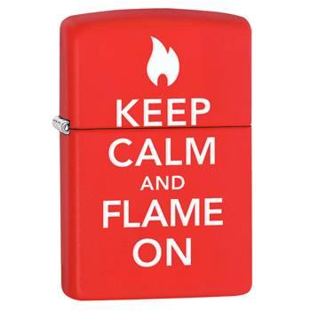 Зажигалка Zippo 28671 Keep Calm Red Matte