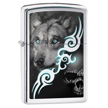 Зажигалка Zippo 28872 Wolf High Polish Chrome