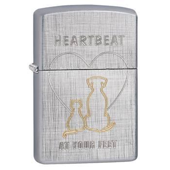Зажигалка Zippo 29258 Heartbeat Linen Weave