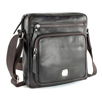 "Кожаная сумка-планшет Wenger W31-01 ""CLOUDY"", коричневый, кожа, 26х26х6 см"