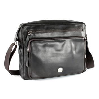 """Кожаная сумка наплечная Wenger W31-02 """"CLOUDY"""", коричневый, кожа,(А4) 35х27х9  см"""