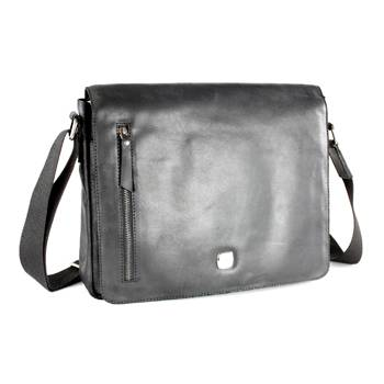 "Кожаная сумка наплечная Wenger W31-03 ""CLOUDY"", коричневый, кожа,36х28х8 см"