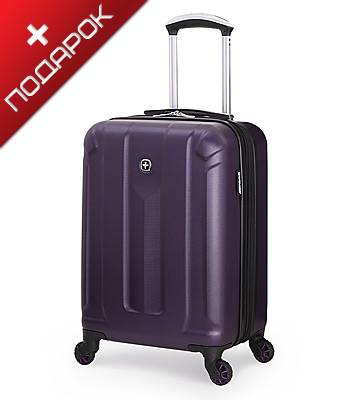 Чемодан Wenger 6573909154  ZURICH III, фиолетовый, АБС-пластик, 35,5x23x48 см, 34 л