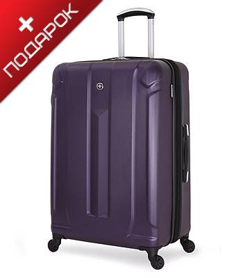 Чемодан Wenger 6573909177 ZURICH III, фиолетовый, АБС-пластик, 48x30x71 см, 105 л
