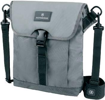Сумка Victorinox 32389204 Altmont™ 3.0 Flapover Bag, серая, нейлон Versatek™, 27x6x32 см, 5 л