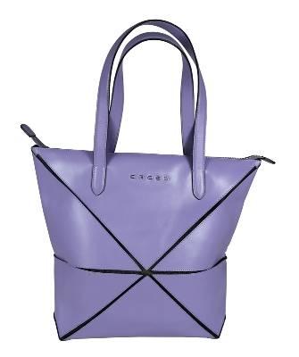 Женская сумка Cross Origami AC751301-8 кожа наппа гладкая+ткань, цвет фиолетовый, 31х26,3х10см