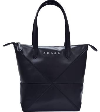 Женская сумка Cross Origami AC751302-1 кожа наппа гладкая+ткань, цвет чёрный, 34х24х25 см