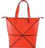 Женская сумка Cross Origami AC751302-3 кожа наппа гладкая+ткань, цвет красный, 34х24х25 см