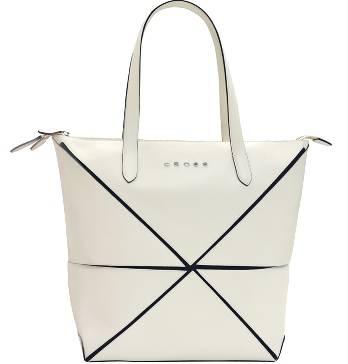Женская сумка Cross Origami AC751302-7 кожа наппа гладкая+ткань, цвет бежевый, 34х24х25 см