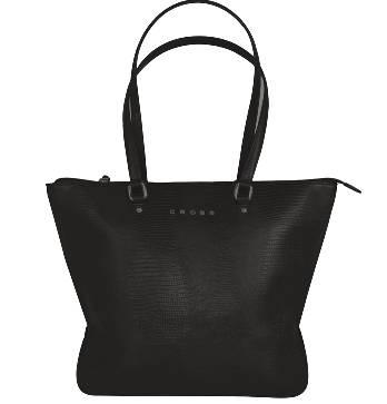 Женская сумка Cross AC987013-1 кожа, цвет чёрный, 42 x 16 x 29 см