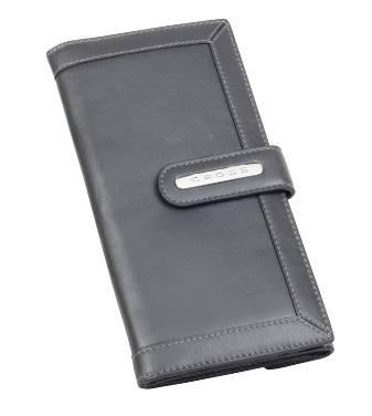 Клатч-кошелёк Cross AC508085-7 Кожа наппа, гладкая, серый, 20х11х1,5 см