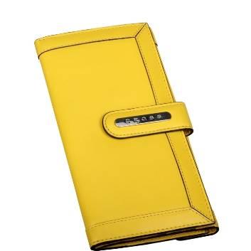 Клатч-кошелёк Cross AC508085-8 Кожа наппа, гладкая, желтый, 20х11х1,5 см
