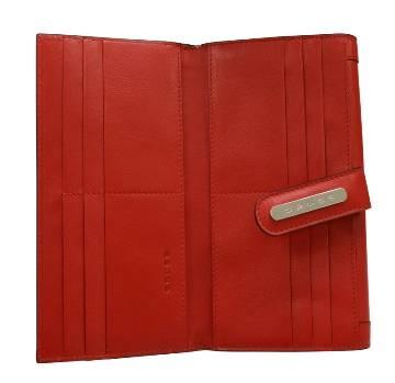 Клатч-кошелёк Cross AC508085-9 Кожа наппа, гладкая, красный, 20х11х1,5 см